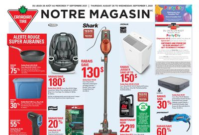 Canadian Tire (QC) Flyer August 26 to September 1