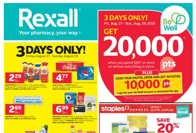 Rexall (West) Flyer August 27 to September 2