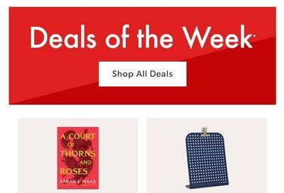 Chapters Indigo Online Deals of the Week August 23 to 29