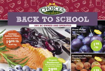 Choices Market Flyer August 26 to September 1