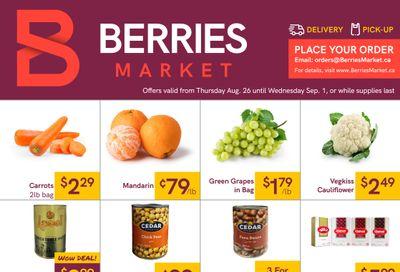 Berries Market Flyer August 26 to September 1