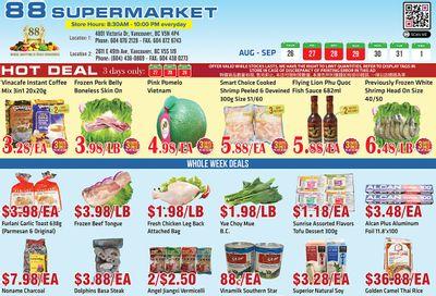 88 Supermarket Flyer August 26 to September 1