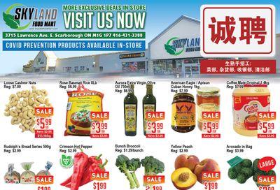Skyland Food Mart Flyer August 27 to September 2