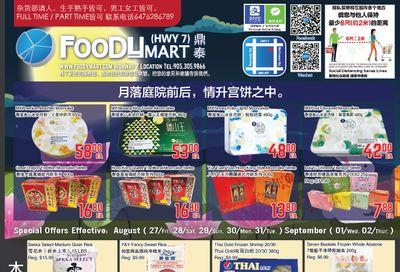 FoodyMart (HWY7) Flyer August 27 to September 2
