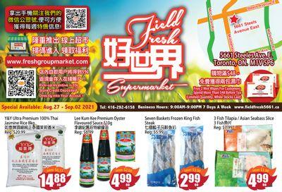 Field Fresh Supermarket Flyer August 27 to September 2