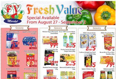 Fresh Value Flyer August 27 to September 2