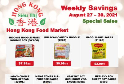 Hong Kong Food Market Flyer August 27 to 30