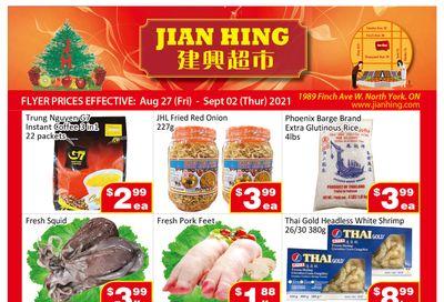 Jian Hing Supermarket (North York) Flyer August 27 to September 2