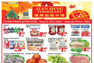 Jian Hing Foodmart (Scarborough) Flyer August 27 to September 2