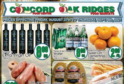 Concord Food Centre & Oak Ridges Food Market Flyer August 27 to September 9