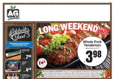 AG Foods Flyer August 29 to September 4