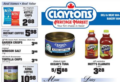 Claytons Heritage Market Flyer August 27 to September 2