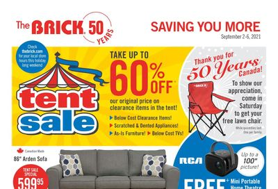 The Brick Tent Sale Flyer September 2 to 6