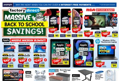Factory Direct Flyer September 1 to 8