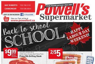 Powell's Supermarket Flyer September 2 to 8