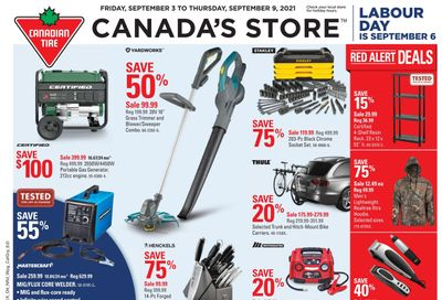 Canadian Tire (ON) Flyer September 3 to 9