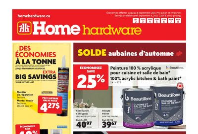 Home Hardware (QC) Flyer September 2 to 8