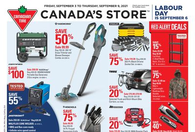 Canadian Tire (Atlantic) Flyer September 3 to 9