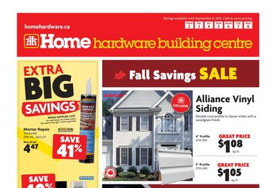 Home Hardware Building Centre (BC) Flyer September 2 to 8