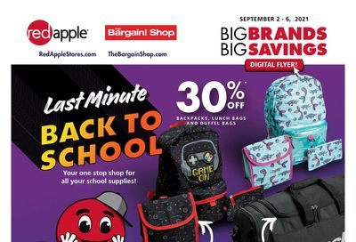 The Bargain Shop & Red Apple Stores Flyer September 2 to 6