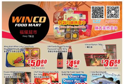 WinCo Food Mart (HWY 7) Flyer September 2 to 8