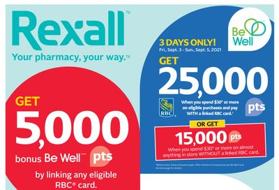 Rexall (West) Flyer September 3 to 9