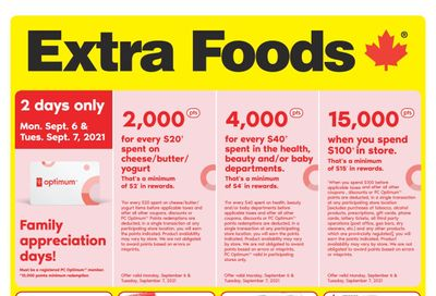 Extra Foods Flyer September 3 to 9