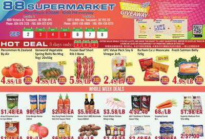 88 Supermarket Flyer September 2 to 8