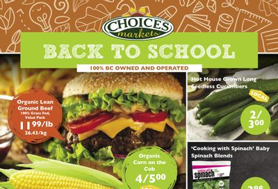 Choices Market Flyer September 2 to 8