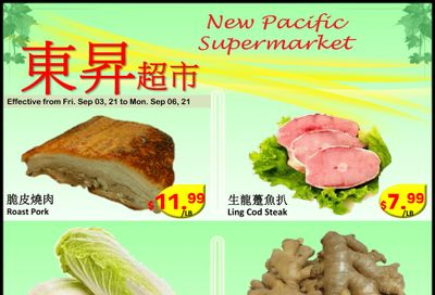 New Pacific Supermarket Flyer September 3 to 6
