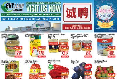 Skyland Food Mart Flyer September 3 to 9