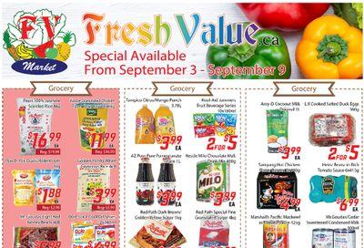 Fresh Value Flyer September 3 to 9