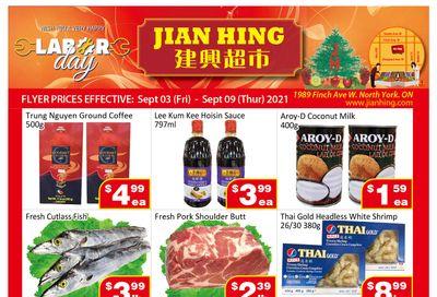 Jian Hing Supermarket (North York) Flyer September 3 to 9