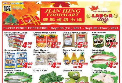 Jian Hing Foodmart (Scarborough) Flyer September 3 to 9
