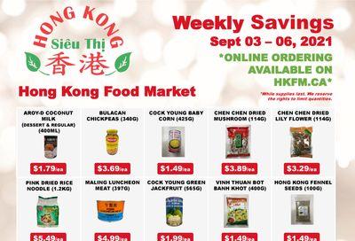 Hong Kong Food Market Flyer September 3 to 6