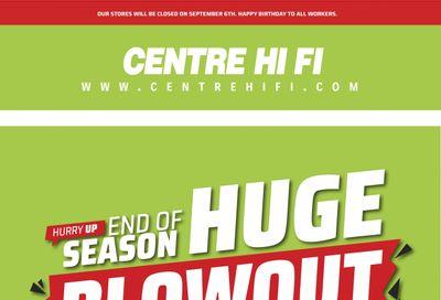 Centre Hi-Fi Flyer September 3 to 9