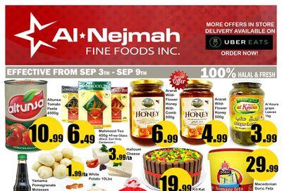Alnejmah Fine Foods Inc. Flyer September 3 to 9