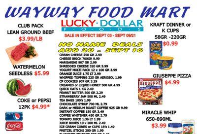 WayWay Food Mart Flyer September 3 to 9
