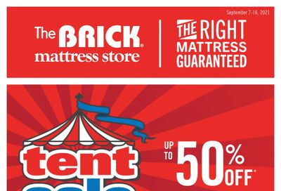 The Brick Mattress Store Flyer September 7 to 16