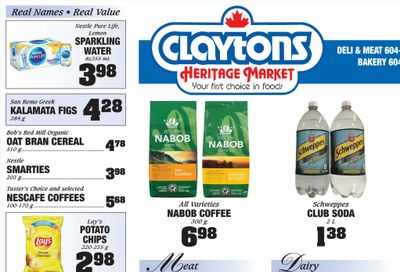 Claytons Heritage Market Flyer September 3 to 9