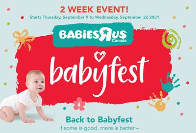 Babies R Us Flyer September 9 to 22