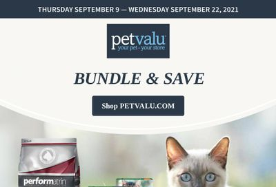Pet Valu Flyer September 9 to 22