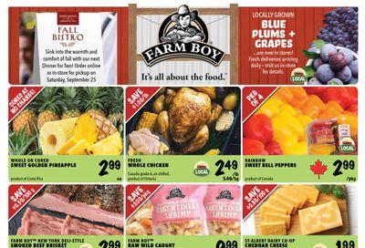 Farm Boy Flyer September 9 to 15