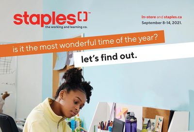 Staples Back to School Flyer September 8 to 14