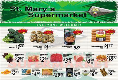 St. Mary's Supermarket Flyer September 8 to 14