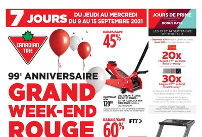 Canadian Tire (QC) Flyer September 9 to 15