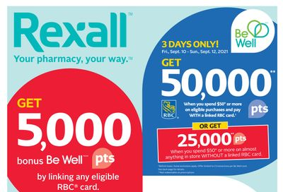 Rexall (West) Flyer September 10 to 16