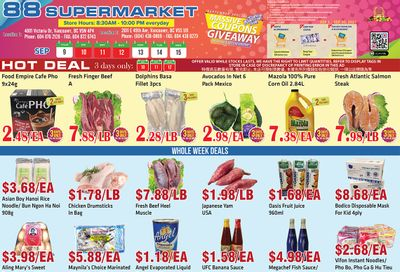 88 Supermarket Flyer September 9 to 15