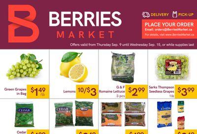Berries Market Flyer September 9 to 15