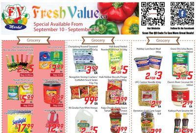 Fresh Value Flyer September 10 to 16